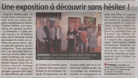 Article- Le Populaire du Centre 14/09/2016