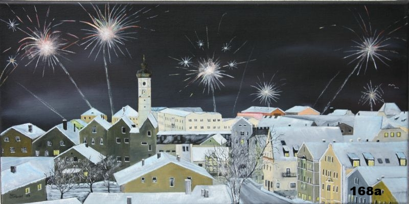 Nr.168a Sylvesternacht in Dorfen. Format 30x60cm