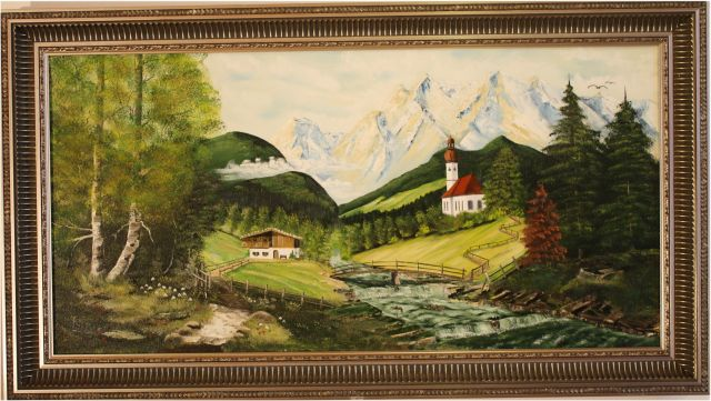 Nr.30 Ramsau in Berchtesgaden. Format 40x80cm