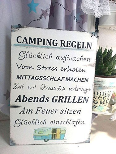 Geschenkidee_Geburstag_Camping_Regeln_Schild_Camper_Wohnmobil_Wohnwagen_Die Roadies
