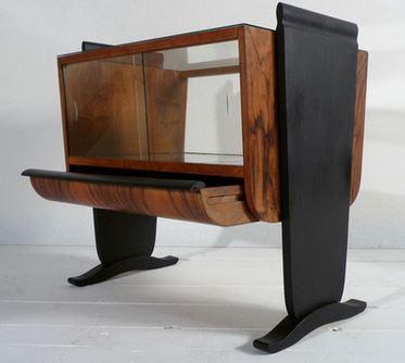 minibar von jindrich halabala originale bauhaus m bel sessel stuhl sofa lampe von. Black Bedroom Furniture Sets. Home Design Ideas