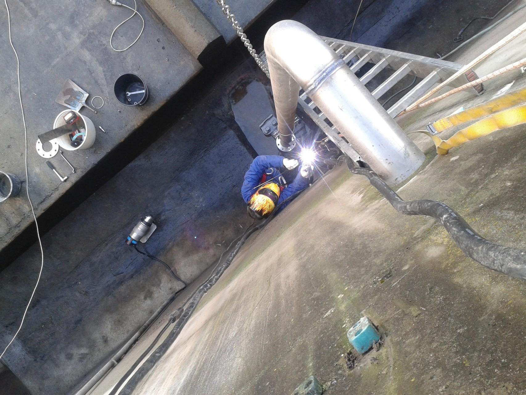 Druckleitungsanpassung im RÜB