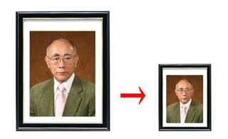 四切写真を縮小して複製・キャビネサイズへ