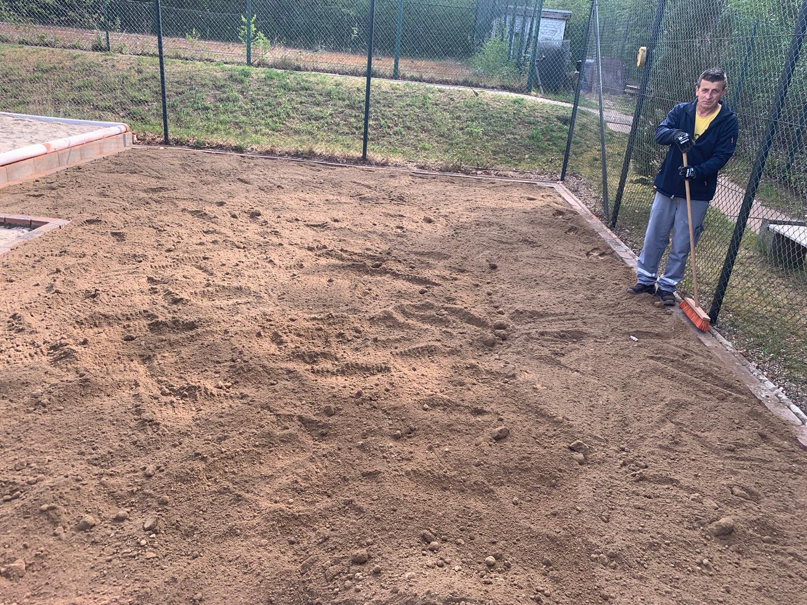 Mutterboden für Rasenfläche