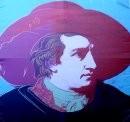 Der Goethe-Kopf an unserer Fassade im Hauptgebäude