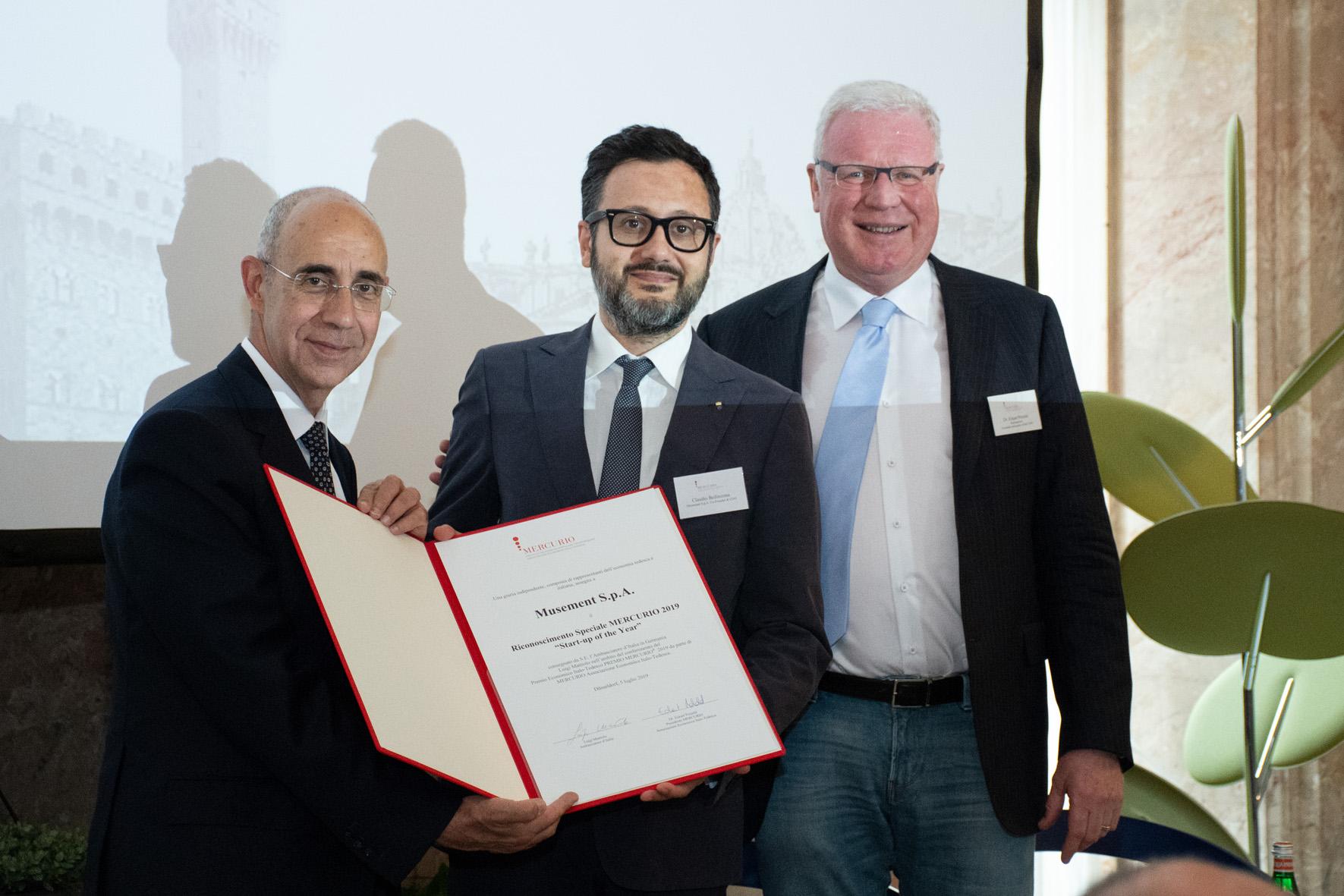S.E. Luigi Mattiolo, Claudio Bellinzona (Musement), Dr. Eckart Petzold (MERCURIO)