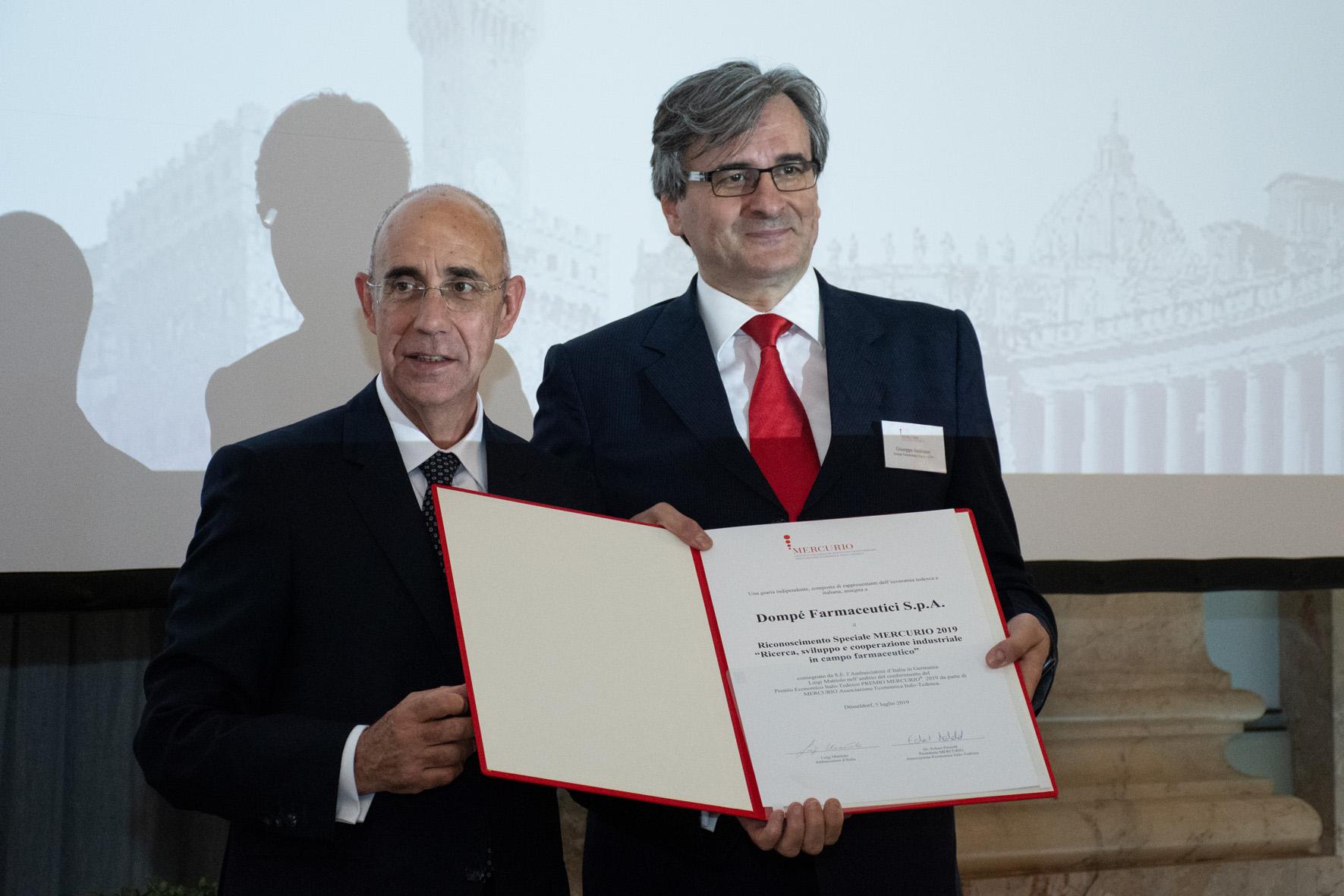 S.E. Luigi Mattiolo, Giuseppe Andreano (Dompé Farmaceutici)