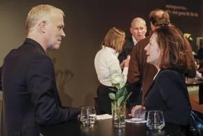 Il direttore di ART COLOGNE Daniel Hug con Simone Protti