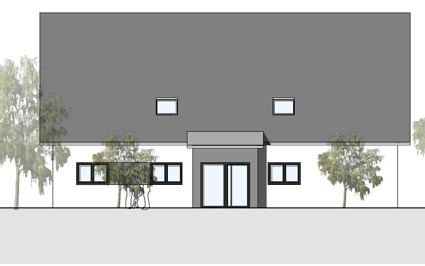 Plan Nordansicht Haus