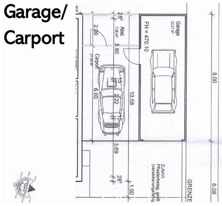 Grundriss Garage/Carport