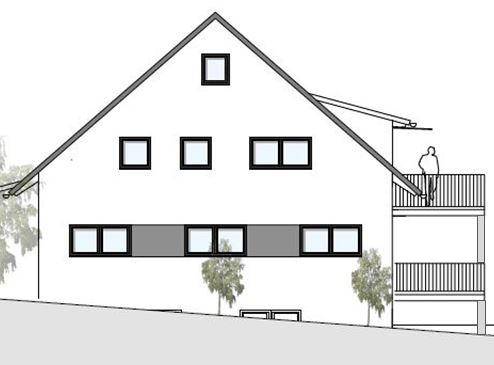 Westansicht Haus