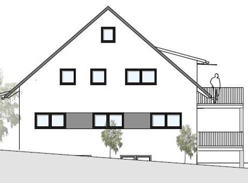Plan Westansicht Haus