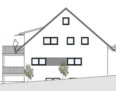 Plan Ostansicht Haus