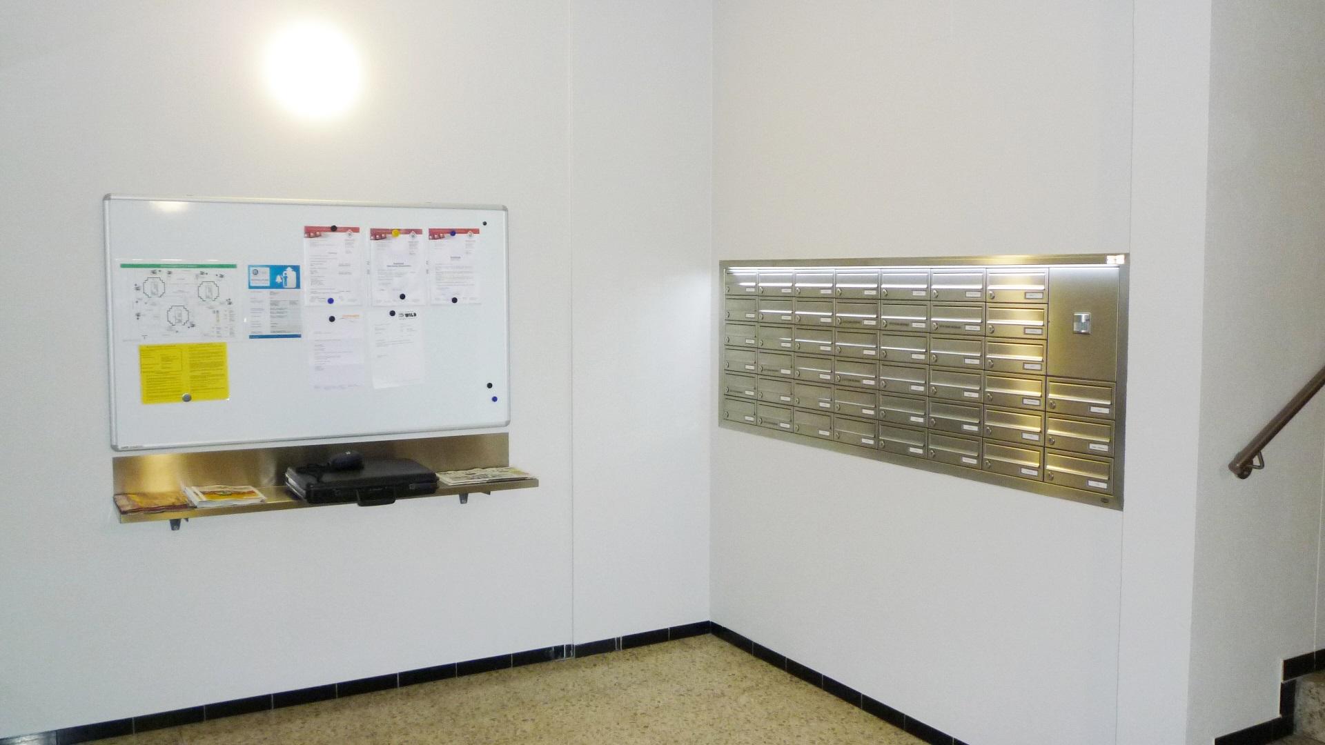 Briefkastenanlage Foyer