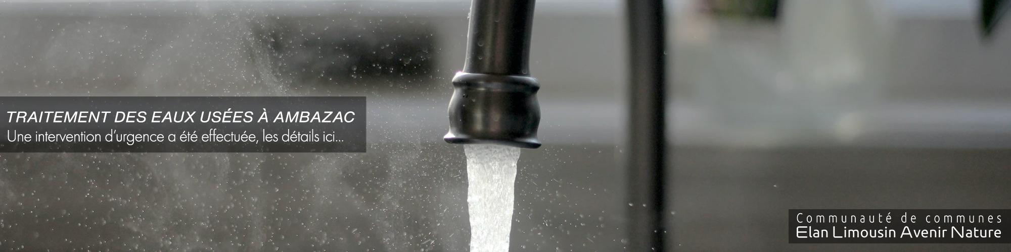 Intervention sur la station de traitement des eaux usées d'Ambazac