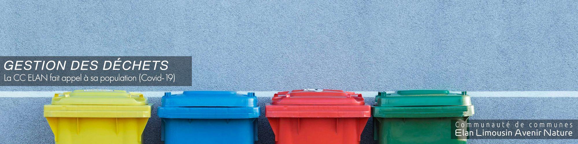 Gestion des déchets pendant le confinement (Covid-19)