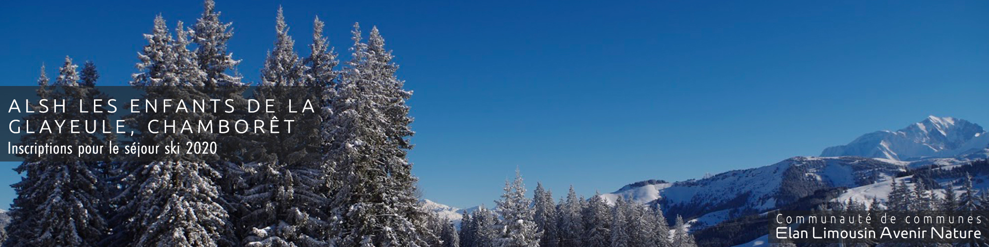 Séjour ski 2020 ALSH Chamborêt