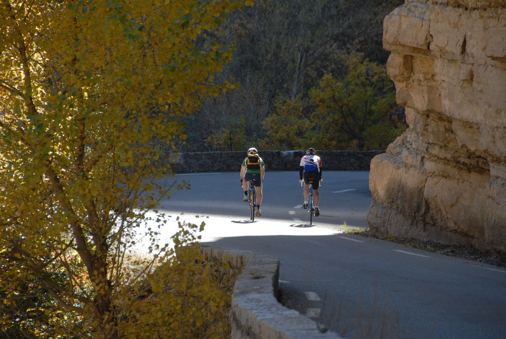 Cyclists and mountain bike fans take to the road