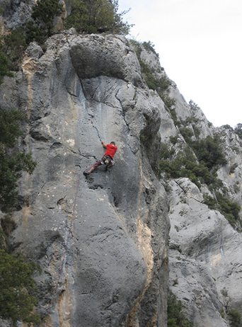 The via ferrata  at Orpierre, a sports climbing mecca