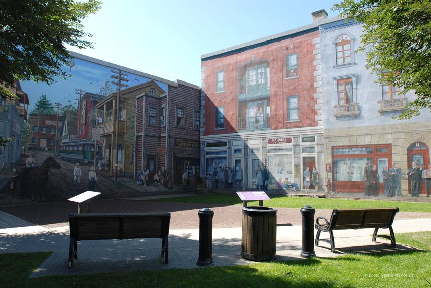 Une murale  géante à 180° pour conter deux époques du quartier Est
