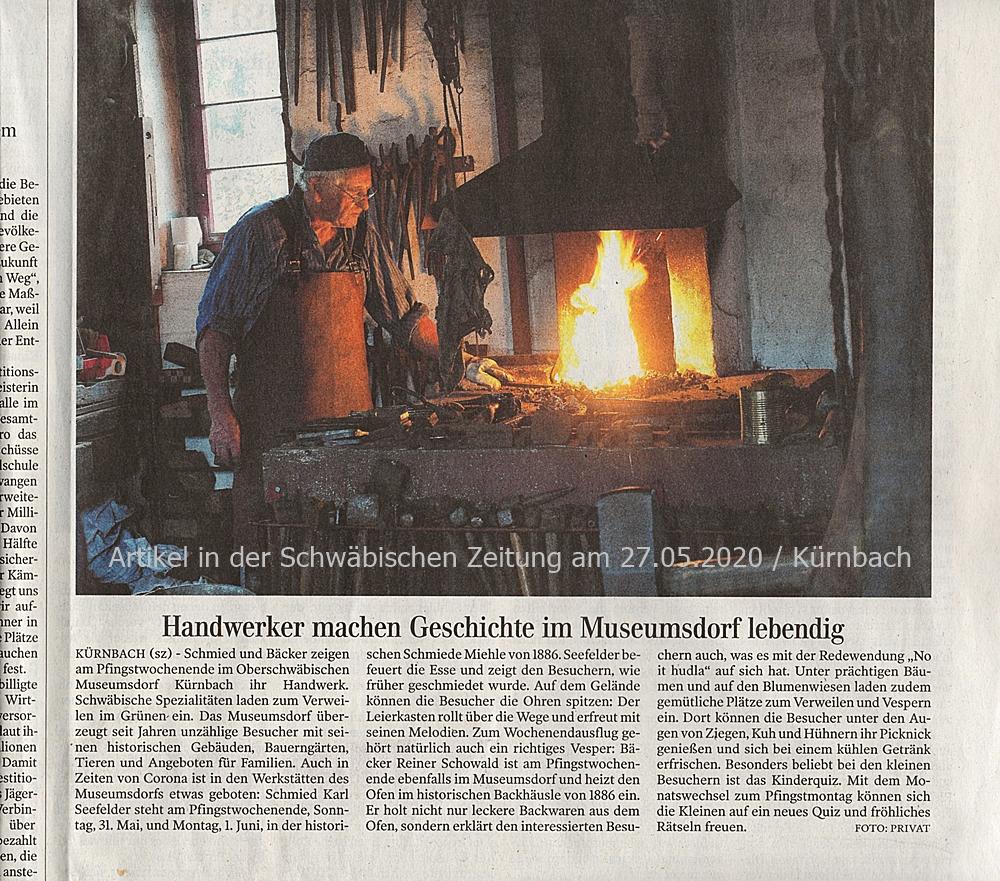 """""""Handwerker machen Geschichte im Museumsdorf lebendig"""" - 31.05. + 01.06.2020"""