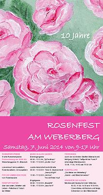 Rosenfest-Flyer 2014 (Acrylbild von Christl Dullenkopf)