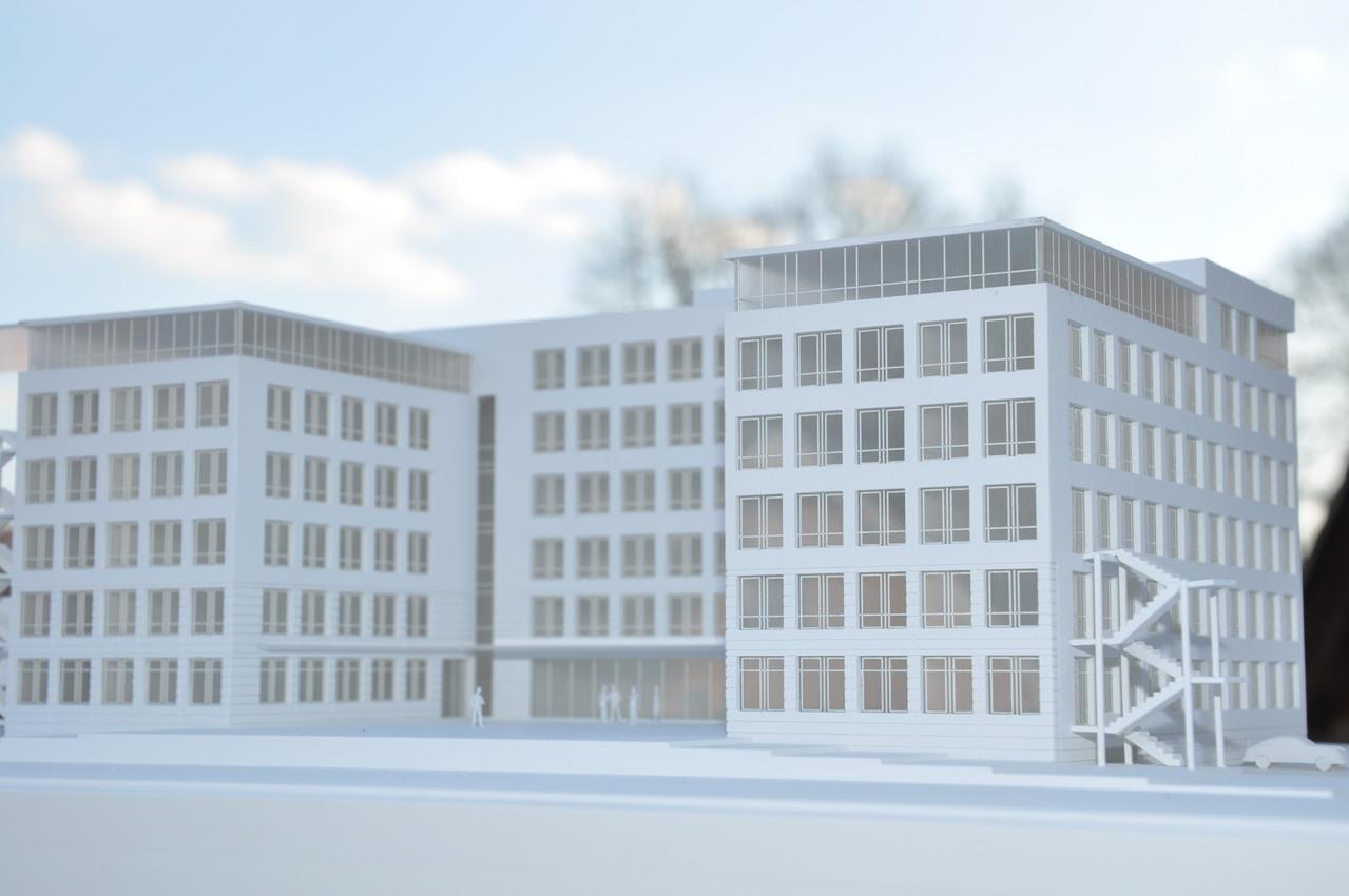 Modell zum Umbau eines Schulungszentrums (Dresden)