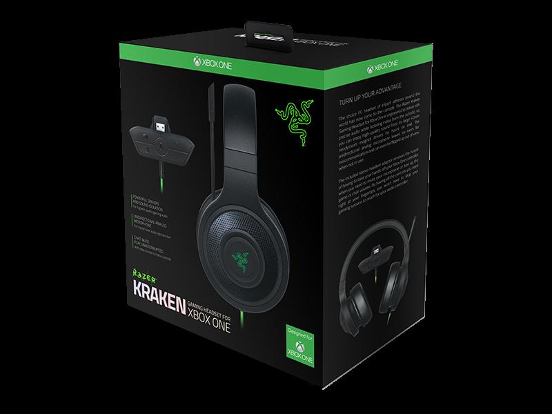 Casque Razer Kraken pour Xbox One disponible ici.