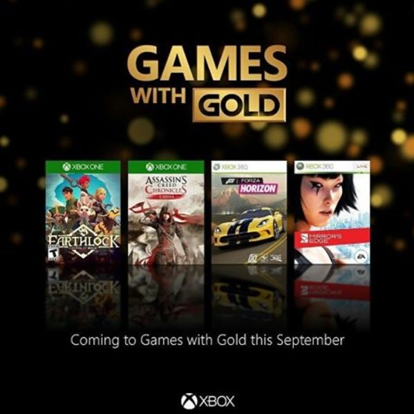 Games with gold - Xbox septembre 2016