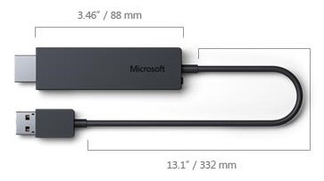 Microsoft Wireless Display Adapter disponible ici.