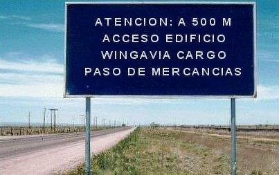 Carretera de acceso a la Sede Central de WGA en Madrid