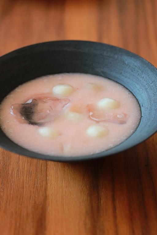 白桃の冷やし汁粉