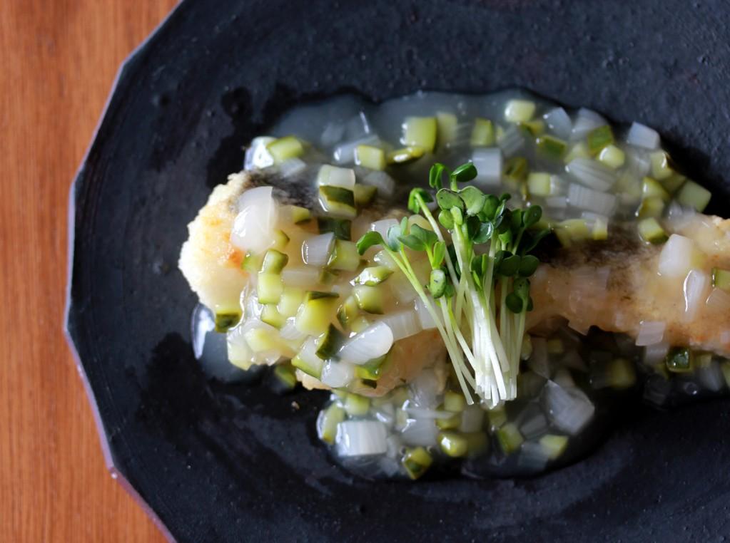 胡瓜とらっきょうの糖酢魚