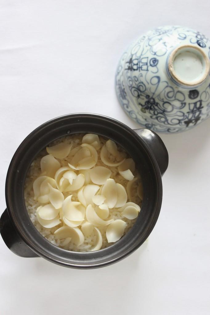 百合根のご飯 糯粟や糯きびと白米