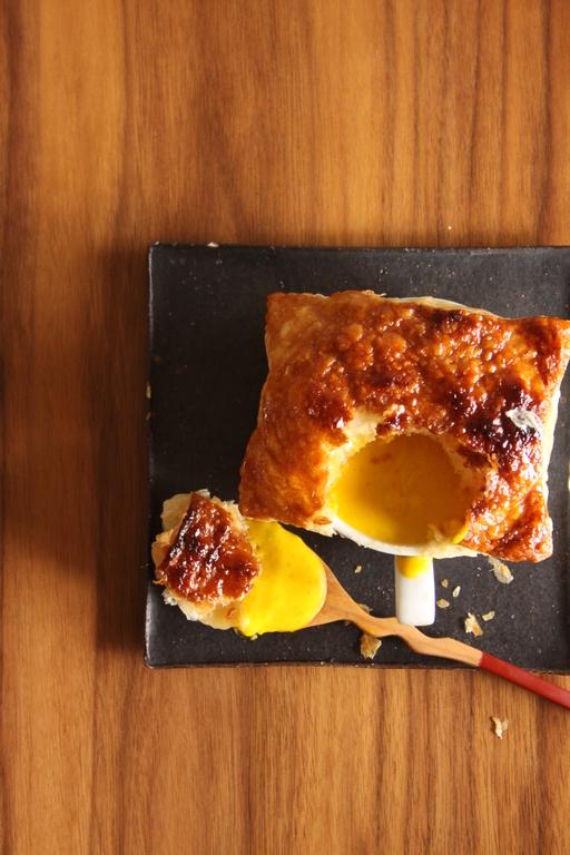 カボチャスープ メープルシロップパイ包み