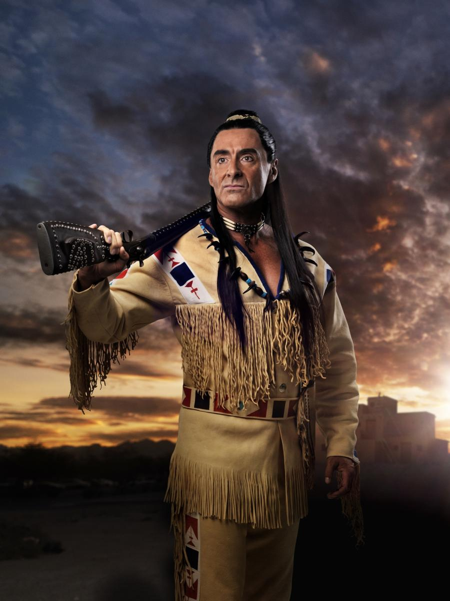 Tom Volkers als Winnetou