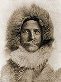 Karl May als Eskimo. Fotomontage.