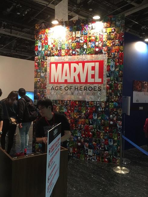 名古屋市科学館で行われている特別展示『マーベル展』入り口。