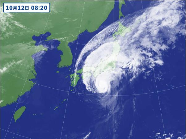 2019年の台風19号。