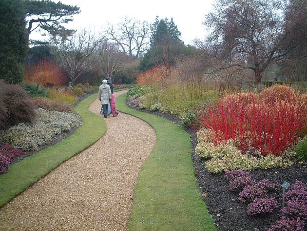 本当に美しく作られていたイギリスの冬の庭