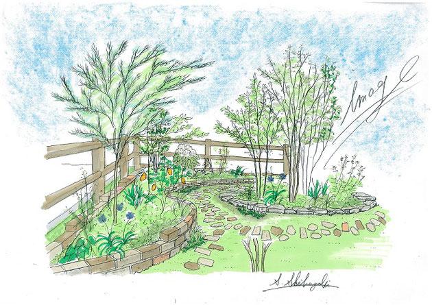 緑区で完成したイングリッシュガーデン!柴ちゃんの得意な植物いっぱいの庭です!!!