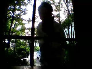自分で自分を撮るガーデンドクター柴ちゃん。