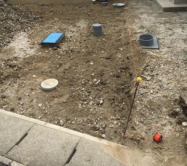 埋まっている管やマスやメーターの高さや深さを事前にチェックしましょう!