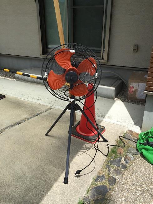 これがミスト付き扇風機の全貌だ!