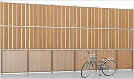 アルミ多段フェンス 2.8mまで対応可能