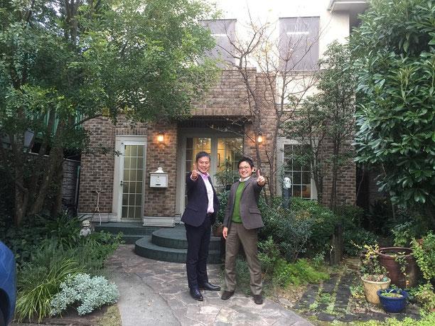 佐藤先生とガーデンドクター柴ちゃん。柴垣グリーンテックにて。