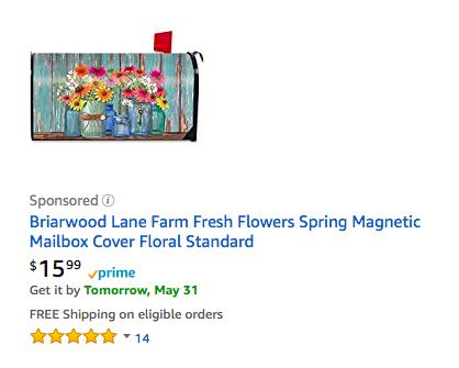 花の絵が書いてあるアメリカンポスト