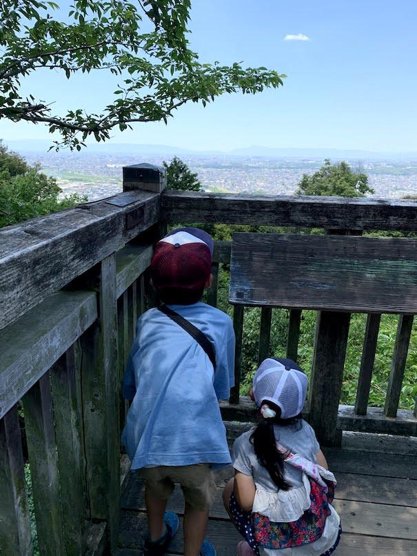 東谷山の展望台から見る名古屋。最高の天気でした!