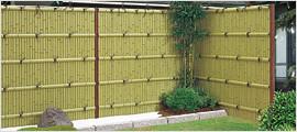 和風竹垣フェンスはASA樹脂で出来ている