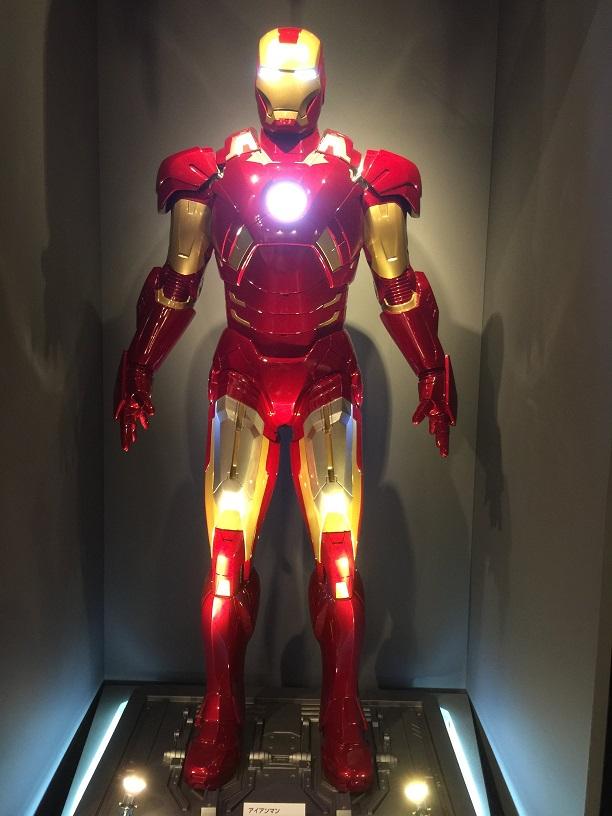 マーベル展であったアイアンマンの展示